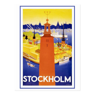 Postal Vintage Estocolmo Suecia