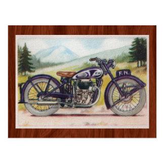 Postal Vintage F.N. púrpura Motorcycle Print