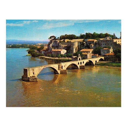 Postal Vintage Francia, Aviñón; puente quebrado