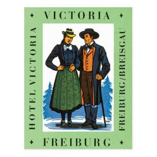 Postal Vintage Friburgo Victoria