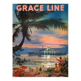 Postal Vintage Hawaii, los E.E.U.U. -