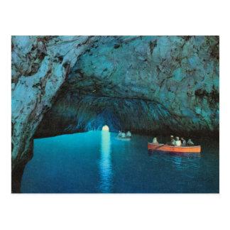 Postal Vintage Italia, Capri, gruta azul