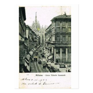 Postal Vintage Italia, Milano, Corso Vittorio Emmanuele