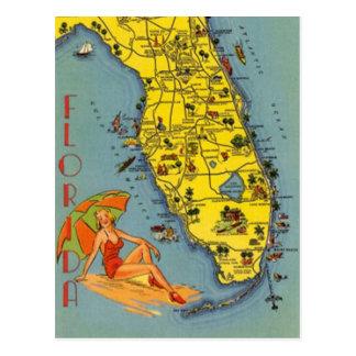 Postal Vintage la Florida, los E.E.U.U. -