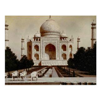 Postal Vintage la India, el Taj Mahal