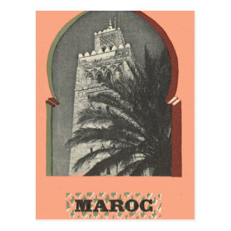 Postal Vintage Marrakesh, Maroc,
