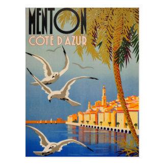 Postal Vintage Menton Cote d'Azur