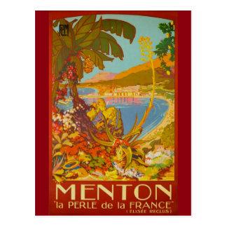 Postal Vintage Menton Cote d'Azur Francia
