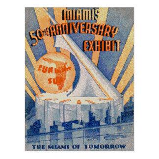 Postal Vintage Miami, la Florida, los E.E.U.U. -