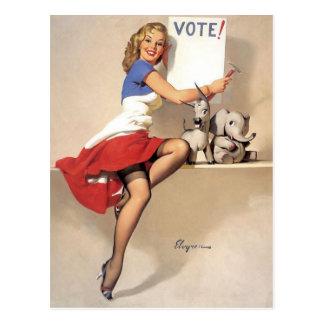 Postal Vintage modelo, voto