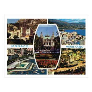 Postal Vintage Mónaco, Monte Carlo Multiview