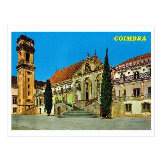 Postal Vintage monasterio de Portugal, Coímbra