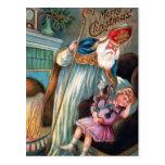 Postal Vintage Navidades de Santa María enojados