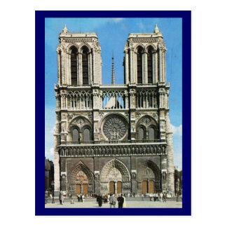 Postal Vintage Notre Dame de Paris de París, París