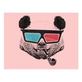 Postal Vintage panda 3D glasses