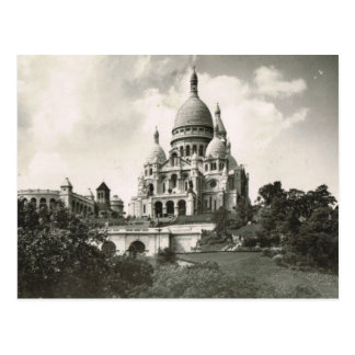 Postal Vintage París, Montmatre, Sacre Coeur