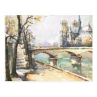 Postal Vintage París, Notre Dame, La el Sena