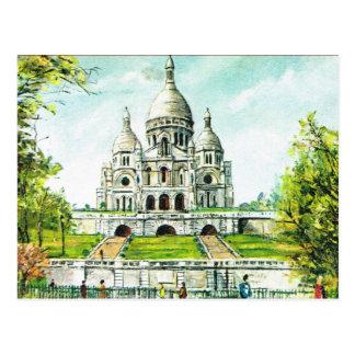 Postal Vintage París, París, Montmatre, Sacre Coeur