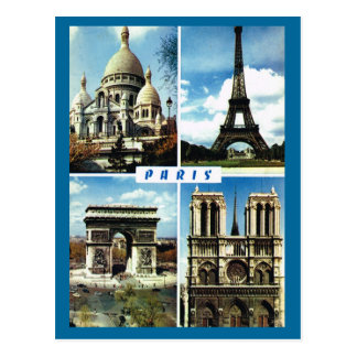 Postal Vintage París, París Multiview
