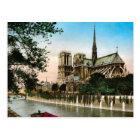 Postal Vintage París, río el Sena e Ile de Notre Dame