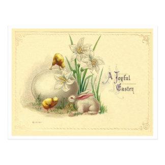 Postal Vintage Pascua alegre