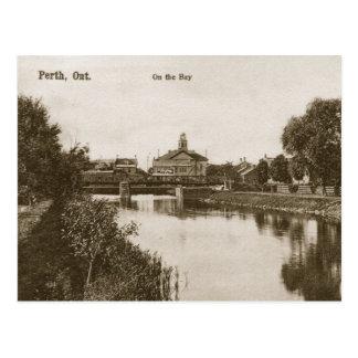Postal Vintage Perth Ontario en la bahía