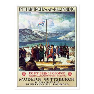 Postal Vintage Pittsburgh en el principio