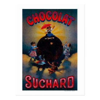 Postal Vintage PosterEurope de Chocolat Suchard