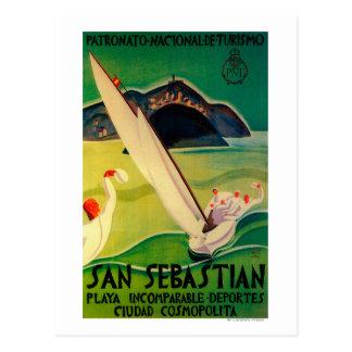 Postal Vintage PosterEurope de San Sebastián