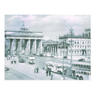 Postal Vintage puerta de Alemania, Berlín Brandeburgo