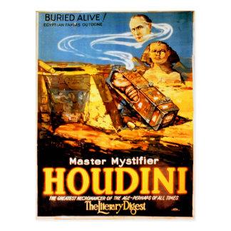 Postal Vintage raro más mystifier principal de Houdini