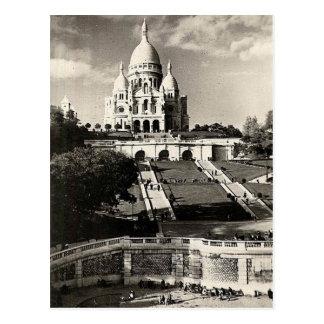 Postal Vintage Sacré-Coeur de Montmartre en Paris Photo
