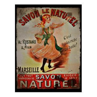 Postal Vintage Savon Naturel