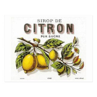 Postal Vintage Sirop de Citron Ad