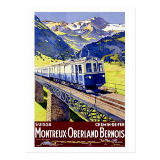Postal Vintage Suiza -