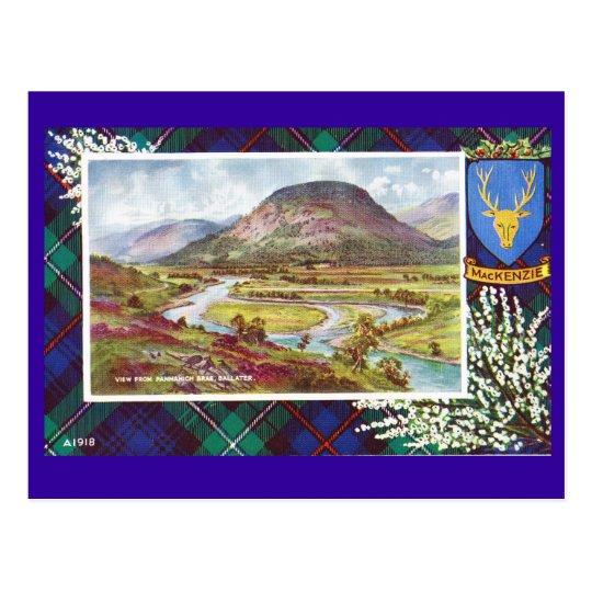 Postal Vintage tartán de Escocia, Mackenzie, Ballater