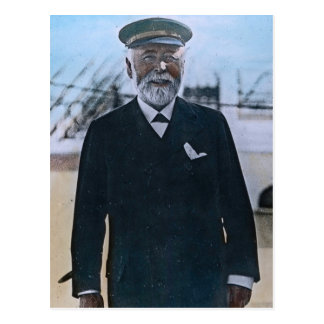 Postal Vintage titánico de capitán Edward Smith del RMS