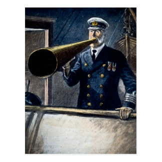 Postal Vintage titánico de capitán Edward Smith RMS