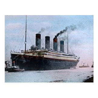Postal Vintage titánico del RMS Belfast Irlanda