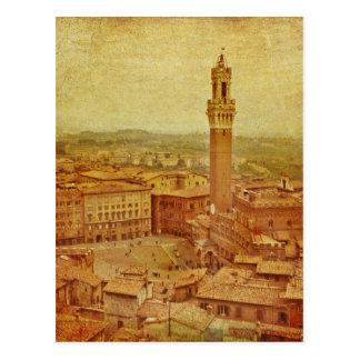 Postal Vintage Toscana, Siena medieval