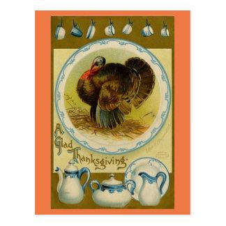 Postal Vintage Turquía con los platos