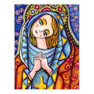 Postal Virgen María