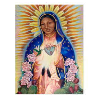 Postal Virgen María - nuestra señora Of Guadalupe