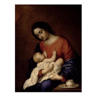 Postal Virgen y niño, 1658