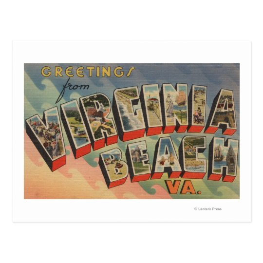 Postal Virginia Beach, Virginia - escenas grandes de la