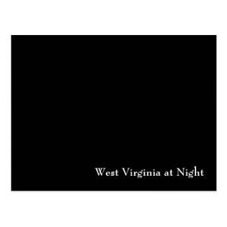 Postal Virginia Occidental en la noche