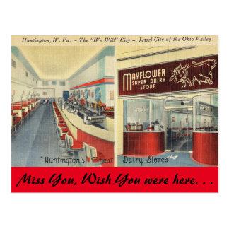 Postal Virginia Occidental, tienda de la lechería de