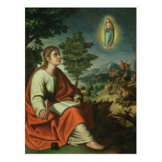 Postal Vision de St. John el evangelista en Patmos