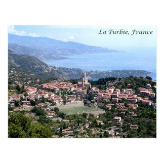 Postal Visión desde el La Turbie, Francia