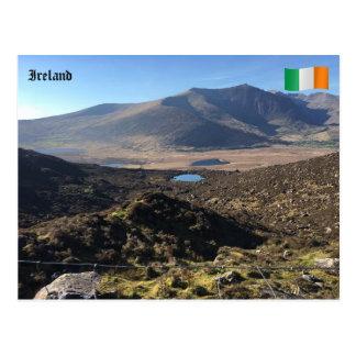 Postal Visión desde el paso de Conor, Co. Kerry, Irlanda